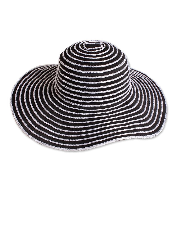 David & Young Textured Stripe Floppy Hat