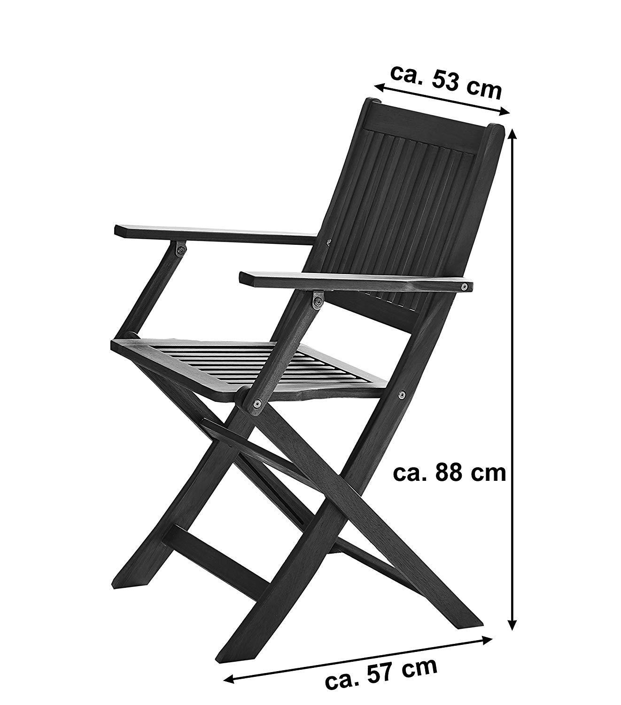 SAM Klappstuhl Slagelse Akazien-Holz Gartenstuhl ideal f/ür Balkon Garten Terrasse klappbar FSC/® 100/% Zertifiziert
