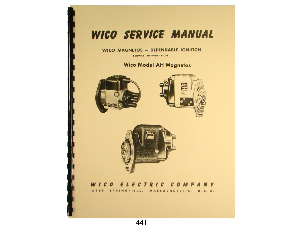 Wico Service & Parts Manual for AH Magneto: Wico Magnetos: Amazon.com: Books
