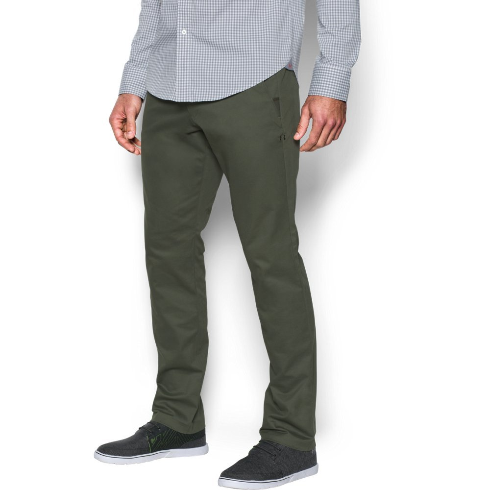 Under Armour Men's Performance Chino – Tapered Leg, Downtown Green /Downtown Green, 30/34