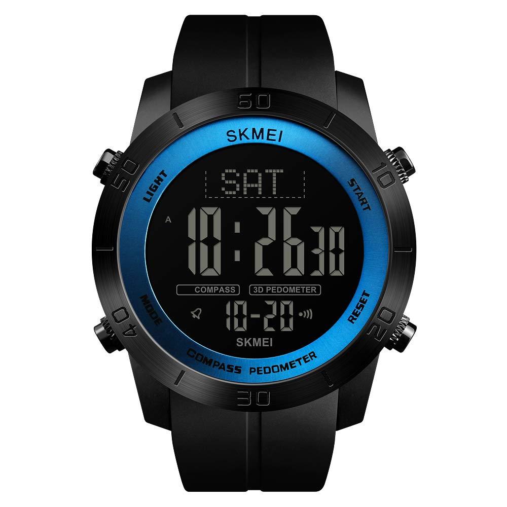 Relojes Deportivos para Hombre con brújula, podómetro, calorías, Relojes de Pulsera Digitales Impermeables