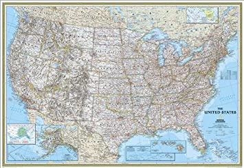 United States Classic, Enlarged & , Tubed National Geographic Map National Geographic Maps Natl Geographic Society Maps 0792293193