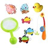 Bagno Giocattolo Galleggiante con Giochi Rete da Pesca 8 Pezzi Set per i Bambini (Il Colore Può Variare)