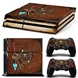 ZoomHit Ps4 Playstation 4 Console Skin Decal Sticker Old Book Treasure Pirate + 2 Controller Skins Set