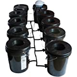 Viagrow Black Bucket Deep Water Culture System, 8 pack