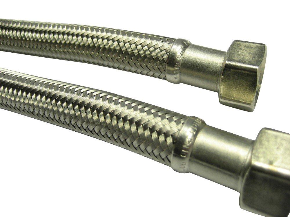 Manguera de tanques dn13 mangueras flexibles de acero inoxidable fontanería metal manguera 1//2 pulgadas