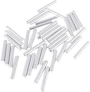 X-Dr 20 Pcs Metal Silver Tone Robot Models 20mm Length Axle Rod (6631d1e6-a222-11e9-8d7c-4cedfbbbda4e)