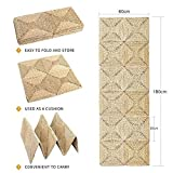 Eshow Hand Woven Floor Pillow Cushion Seating Throw Cover Decorative (1.8×0.6 M, Beige)