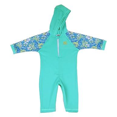 1717e0ae71 Amazon.com  Nozone Kailua Sun Protective Hooded Baby Swimsuit - UPF ...