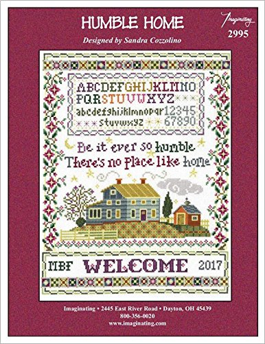 Humble Home Sampler (Model 2995) Cross Stitch Kit and Free Embellishment