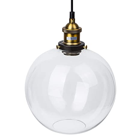lightess pendant light industrial clear glass globe pendant ceiling