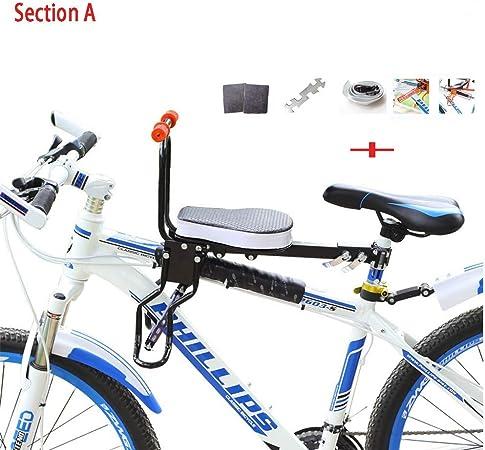 YHONG-ChildSeat Silla Delantera Bicicleta, para Niños Asiento Infantil para Bicicleta Montaje Frontal Portabebé de Ciclismo Silla Delantera Bebé para Bicicleta Asiento Delantero con Agarradero: Amazon.es: Hogar