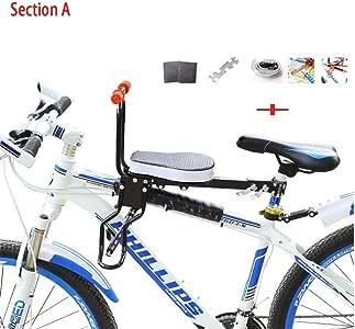 YHONG-ChildSeat Silla Delantera Bicicleta, para Niños Asiento ...