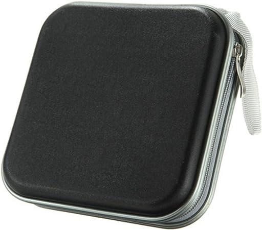 Cadillaps - Estuche para CD, para almacenamiento de 40 unidades, funda para DVD, de plástico, plástico, negro, 15.5*15.5*4.5cm: Amazon.es: Hogar