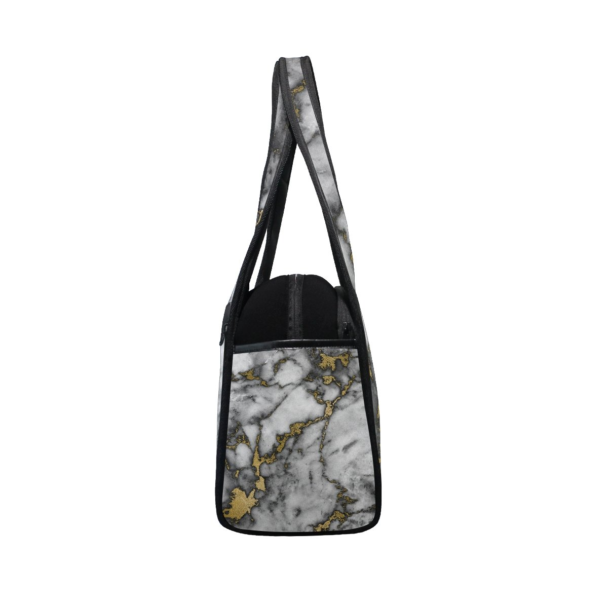 AHOMY Canvas Sports Gym Bag Marble Pattern Travel Shoulder Bag