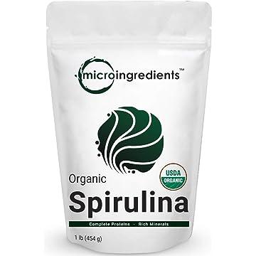 powerful Micro Ingredients Pure Organic Spirulina Powder