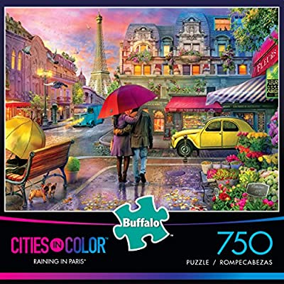 Buffalo Games Cities in Color - Raining in Paris - 750 Piece Jigsaw Puzzle