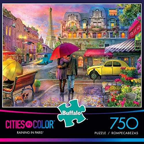 Buffalo Games - Cities in Color - Raining in Paris - 750 Piece Jigsaw Puzzle by Buffalo Games (Image #1)