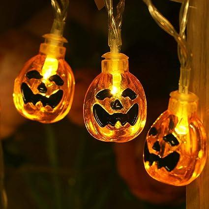uctek halloween string lights 20 led 908ft pumpkin string lights jack o lantern