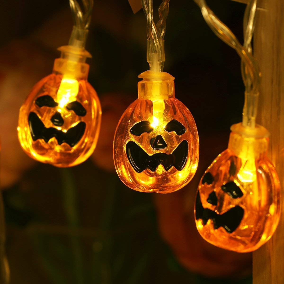 W-ShiG Halloween Pumpkin String Lights,30 LEDs Pumpkin Solar Power String Lights for Halloween Decoration