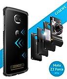 CaseWe - Funda Para Motorola Moto Z2 Force / Bumper Protector Compatible con Moto Mods - Transparente y Negro Mate