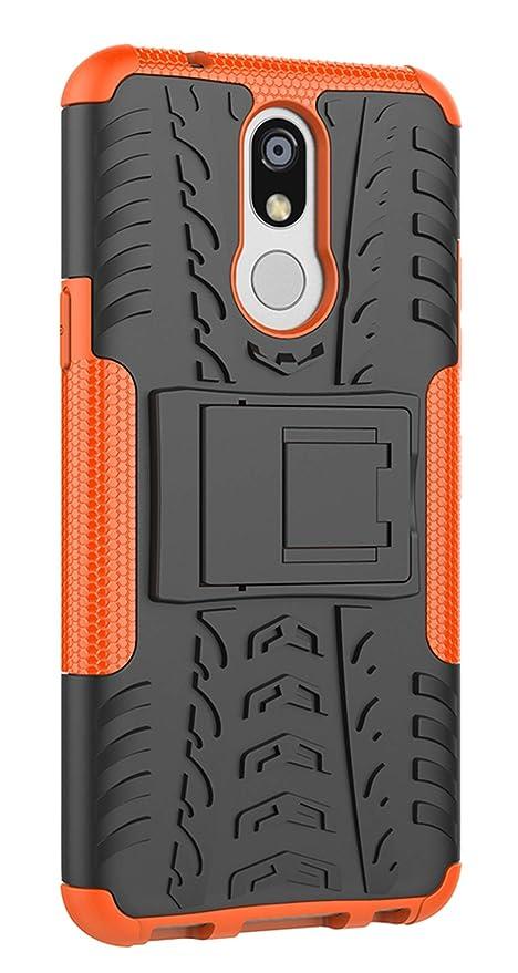XINFENGDI Funda LG K40, Carcasa Dura Protección 360° Cubiertas Móviles Anticaídas Resistente Arañazos TPU Caso Protector para LG K40 con Soporte de ...