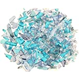 Mixed Blue Stained Glass Minicobblets 2.5 Oz.