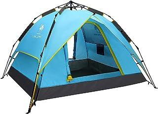 Automatique Pop Up Tente Abris De Plage UV Plage Tente De Campingfamille Tente du Soleil Camping Double Couche Ouverture Rapide Automatique 4260