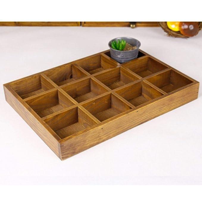 Amazon.com: Organizador de 12 ranuras de madera para cajones ...