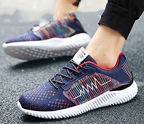 Odema Herren Freizeit Schuhe Fruhling Herbst Jogging Walking Fitness Schuhe Trainer Outdoor Sport Turnschuhe Blau