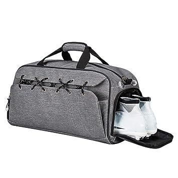 PROKTH Sports Fitness Gym Bag Travel Storage Bag Men Business Traveling Tote  Business Traveling Handbag-Gray 0a416d8e9128f