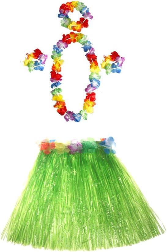 LUOEM Hawaiian Hula Dancer Disfraz de falda de hierba Luau Favores ...
