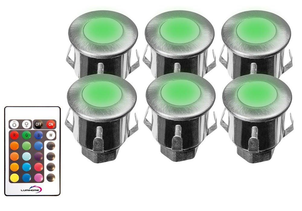 3.9 x 3.6 cm Gris Lumihome RGB//KIT6-ET Kit de 6 Spots Inox 316 12V Encastrables RGB Multicouleur Divers