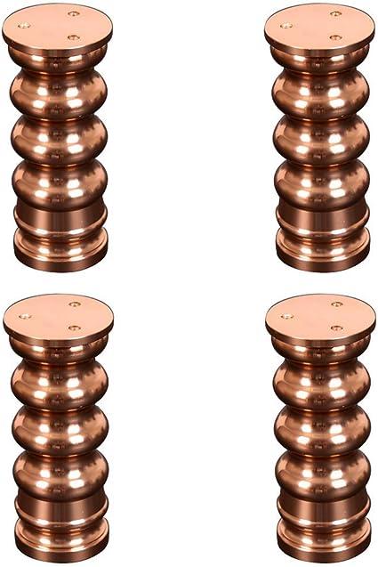 KISlink Patas de Muebles Ajustables   Oro Rosa   Metal ...