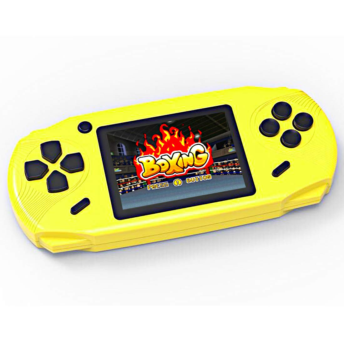 TEBIYOU Handheld Game Console, Built in 16 Bit100 HD Classic Video Games 3.0'' Large Screen Seniors Electronic Handheld Games Player Birthday Gift for Children Adults (Yellow)
