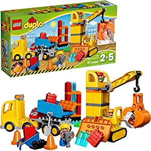 LEGO DUPLO Big Construction Site 10813 Building Set with Toy Dump Truck, Toy Crane and Toy Bulldozer for a Complete…