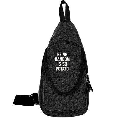 85%OFF Being Random Is So Potato Fashion Men's Bosom Bag Cross Body New Style Men Canvas Chest Bags