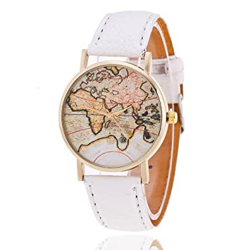New fashion world map watch geneva watches women dress watches new fashion world map watch geneva watches women dress watches quartz wristwatch relogio feminino white gumiabroncs Images
