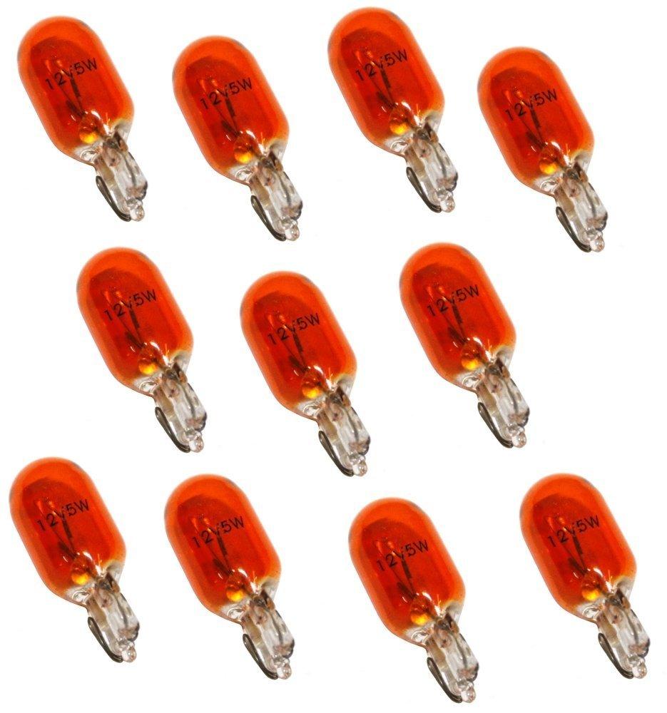 Aerzetix: Lot de 10 Ampoules WY5W T10 12V 5W Ambré Orange pour clignotants auto moto - C1724