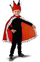 Costume Halloween e Carnevale // re mantello per ragazzi 4 - 8 anni (Taglia: 104134) - consegna senza corona