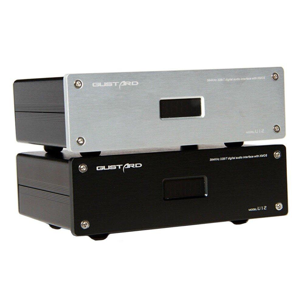 GUSTARD U12 32Bit / 384KHz XMOS USB デジタル オーディオ インタフェース(黒)   B07236DPMM