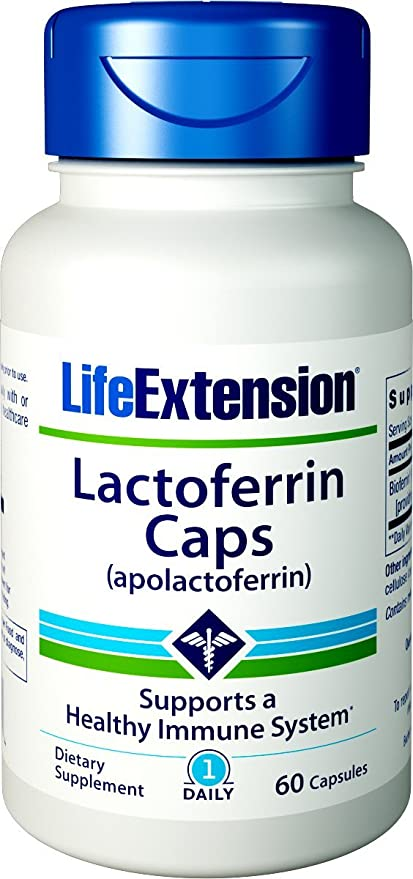 Life Extension Lactoferrin 300mg Capsules, 60-Count by Life Extension