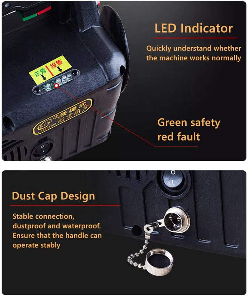 300kg Hoist Electric Winch Electric Lifting Traction Hoist 3 in 1 Wireless Control Wire Control Manual Control Overhead Lift with Overload Protection Black Color 110V