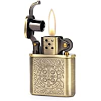 Bronzy Carved Constantine Antique Style Lift Arm Oil Petrol Lighter by Zorro