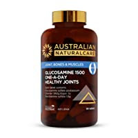 Australian NaturalCare Glucosamine 1500 One-A-Day Healthy Joints Tablets, 90 Count