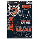 WinCraft Chicago Bears Official NFL 11 inch x 17 inch Star Wars Darth Vader Car Window Cling Decal by 402851
