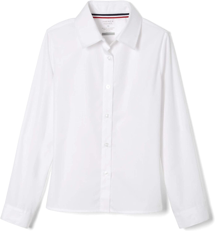 French Toast Girls Long Sleeve Basic Shirt School Uniform Button Down Shirt