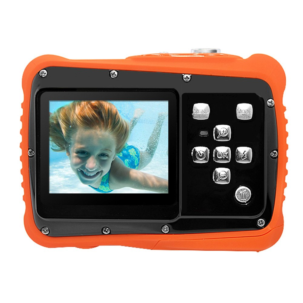 PELLOR Waterproof Sport Action Camera Kids Camera Camcorder 8M Pixels (Black, Screen: 2'') by Pellor (Image #1)