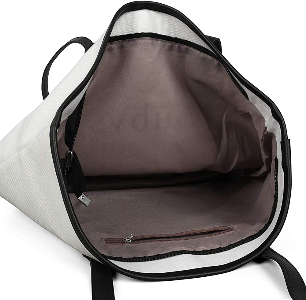 Women Canvas Tote Bag Hon-da-Logo Fashion Handbags for Travel Work