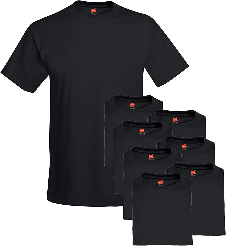 Hanes Men's 6-Pack Plus 2 Free Crew T-Shirts